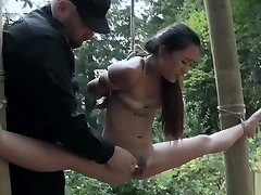 Japanese teen bound and gagged made to climax!