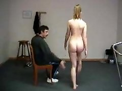 Humiliating bare exercises for teacher spanking shame