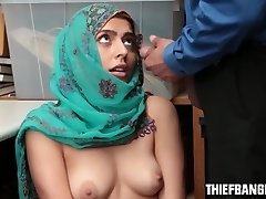 Audrey Royal Splooged Stealing Wearing A Hijab & Romped For Punishment