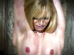 Hot blonde in submission gets tortured and luvs it