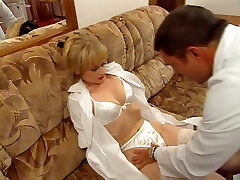 Vintage clip of a French stunner fucked by a gynecologist