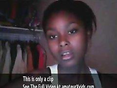 cute black teen on cam