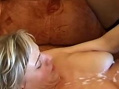 UK Inexperienced Slut Cougar Takes a Load