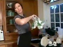 mummy in kitchen