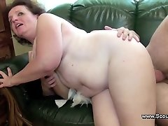 Mom caught german boy and get pummeled in all holes