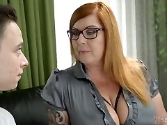 Young student fucks supah juggy professor Tammy Jean and cums on her hefty boobs