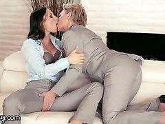 GIRLSWAY Mature Lesbian Gifts Aidra Fox a Energy Suit