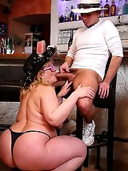 She's drunk at the party and the BBW slut wants her part of the orgy with cock in her box