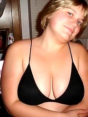 Kinky amateur BBW showing her massive tits