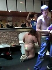 The busty fat beauties at this party are getting wild with the young men that love them