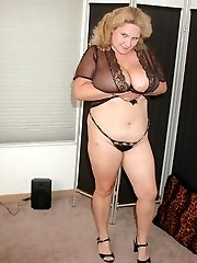 Chubby wife in lingerie