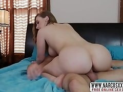 Light-haired Step Mom Harley Jade Gives Her Son While Wifey Sleeping
