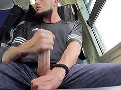 My Giant Dick cousin masturbates in behind my car