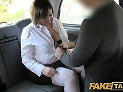 Fake Taxi Back seat anal for curvy lass