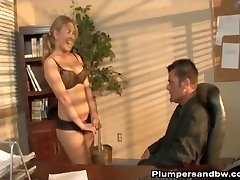 Kirra Lynne Is Leaned Over The Desk After Hours