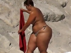 BBW Ginormous Ass on the Beach
