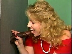 Blondy bbw and big black cock gloryhole