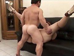 Midget banger satisfies a woman