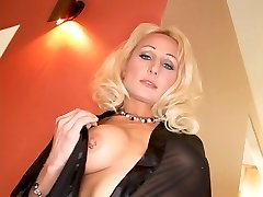 Horny ash-blonde takes a big one up her bum