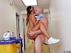 BANGBROS - The fresh cleaning woman swallows a load!