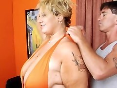 Blonde BBW-Female Domination