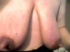 Mature with massive bean and big saggy tits - negrofloripa