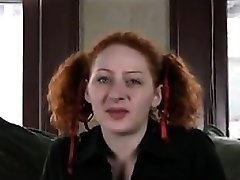 Ugly Redhead Finger-tickling Her Hairy Pussy
