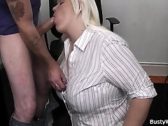 Sizzling blonde secretary office fuck