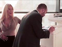 Horny Secretary gets pummel at the office