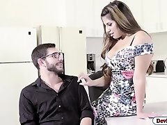 Latina Mercedes smashed in the office