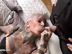 My Messy Hobby - Tattooed MILF swallows big dick