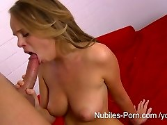 Nubiles Pornography - Cum on her meaty natural tits