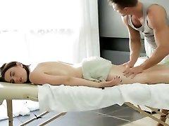 Big tit Russian girl gets a sensual massage