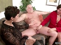 German MILF Show Couple to Pulverize Superb in Threesome