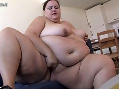 Very Fat nymph loves getting horny by herself