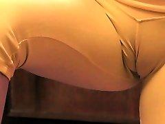 Busty Blonde Teen Revealing Giant Cameltoe