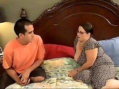 Sexy BBW Mom Seduces Naughty Youthful Stud