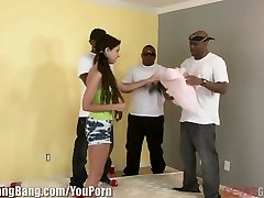 Teens Very First Time With BBC GangBang