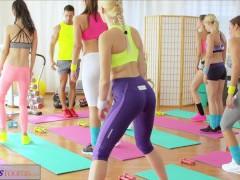 FitnessRooms Young teens fuck gym schoolteacher's big cock
