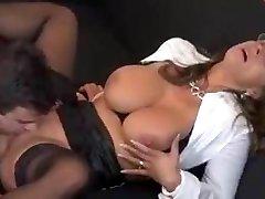 Sexy German Cougar Seduces Employee