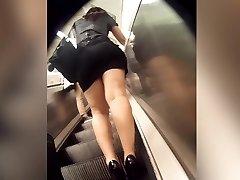 ideal booty in sluty miniskirt