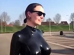 Gigantic tits latex slow motion awesome