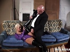 Young Blonde German Orgy Slave