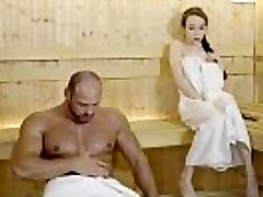 RELAXXXED - Hard pulverize at the sauna with attractive Russian babe Angel Rush