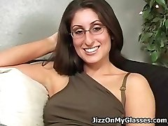 Mouth-watering School Girl Dasha Loves Cum All Over her Glasses