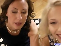 Classy eurobabe shares manmeat with glamour milf