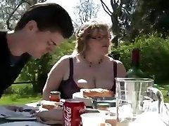 BBW BBQ Double Penetration Facial outdoor