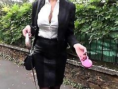 Beautiful Cougar Ania fucked in stockings
