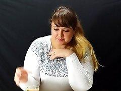 woman eats
