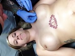 Nipple piercing fun